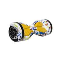 Гироскутер Smart Balance Transformer 8 белый граффити (+Mobile APP)